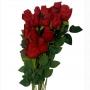 Flor artificial botão de rosa vermelho atacado