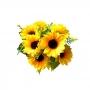 Buquê de Girassol Flor Artificial Para Decoração e Arranjos