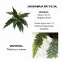 Planta Artificial Galho de Samambaia 50 cm Realista