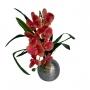 Orquídea Artificial Flor Realista em Silicone Toque Real Mesclada