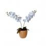 Orquídea Artificial Realista em Silicone Toque Macio