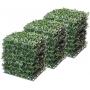 Placa Buxinho Artificial 25x25 Para Muro Verde
