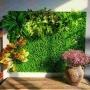 Placa Artificial de Folhagem Revestimento Jardim Vertical