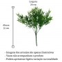 Planta Artificial Buquê de Folha de Bambu Para Painel e Decorações