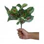 Planta Artificial Buquê Folhagem de Coléus 27 cm em Silicone Mesclado
