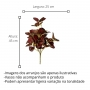 Planta Artificial Buquê de Folhagem Peperonia na cor Vinho