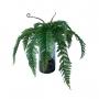 Planta Artificial Buquê de Samambaia 60 cm Volumosa