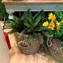 Planta Artificial Buquê de Samambaia 42 cm Palmeira Cica