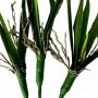 Planta Artificial Folhagem de Orquídea 50 cm em Silicone Toque Real