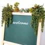 Planta Artificial Folhagem Pendente de Rosário 63 cm Longa Verde em Tons de Marrom