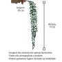Planta Artificial Folhagem Pendente de Senecio 77 cm em Silicone