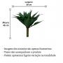 Planta Artificial Mini Árvore Agave 44 cm Decoração Interna e Externa