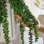 Planta Artificial Pendente de Rosário 70 cm Longa em Silicone Toque Real