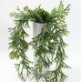 Planta Artificial Pendente Folhagem Chifre de Veado 75 cm