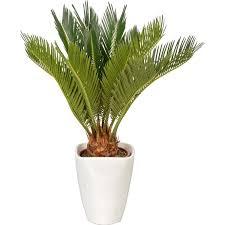 Arvore artificial sagu de jardim 95 cm com folhagens Verdes
