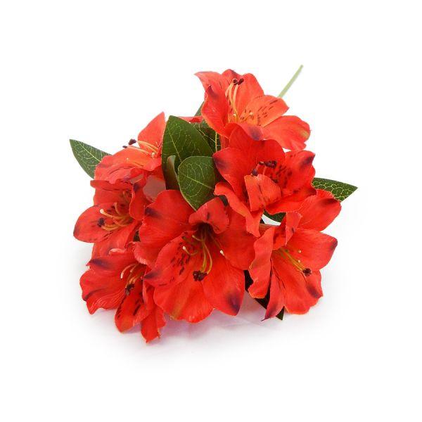 3 Flores Artificiais Astromélia vermelha