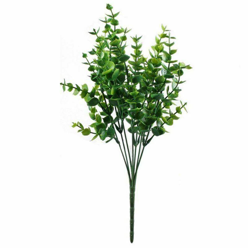 Buque de eucalipto planta artificial para arranjos, painéis e quadro verdes
