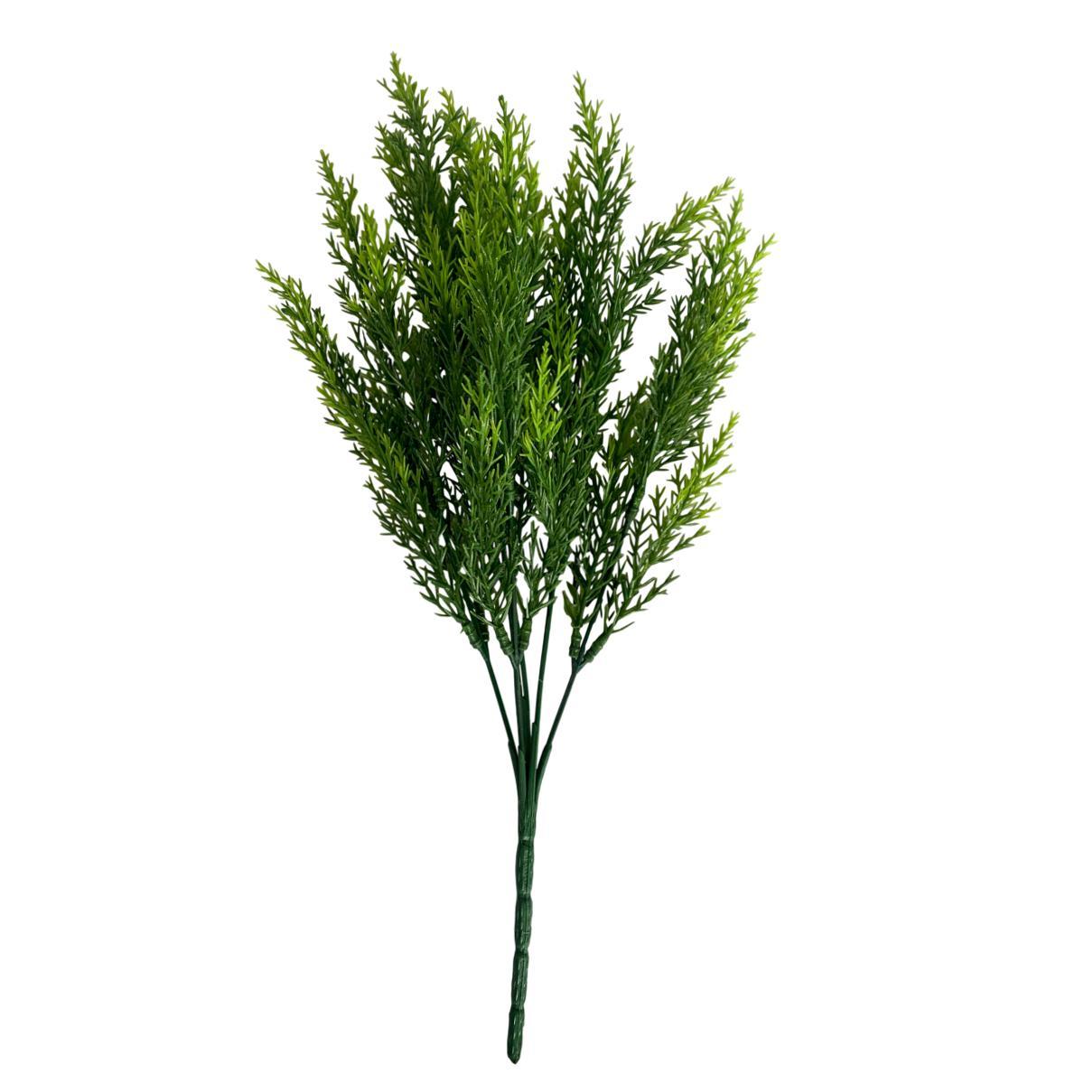 Buquê de Folhagem de Alecrim Artificial Verde 34 cm
