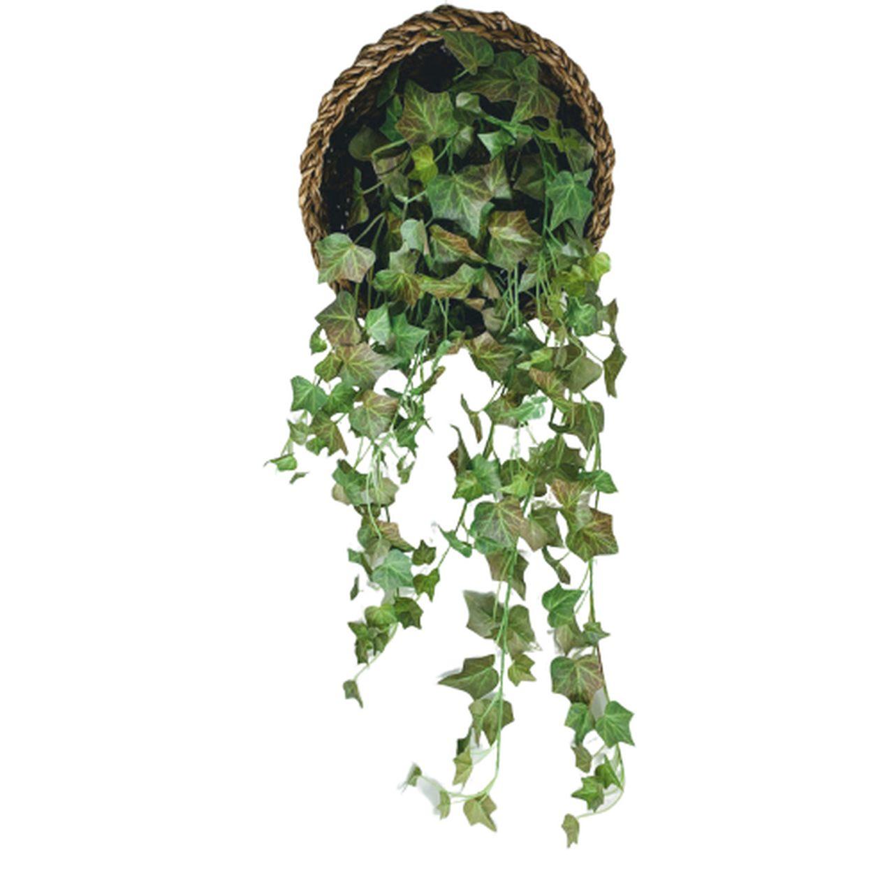 Buque de folhagem de Hera pendente planta artificial em silicone