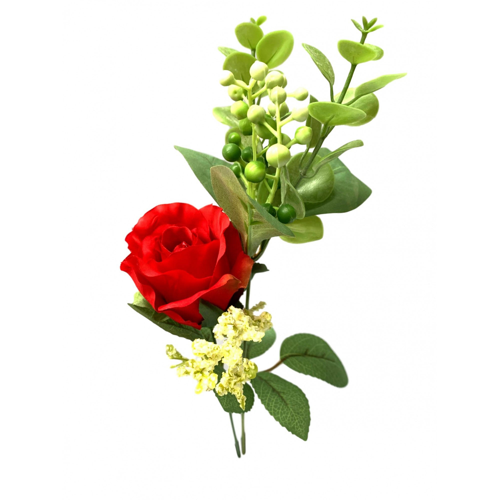Buque de rosas flores artificiais Premium na cor vermelha