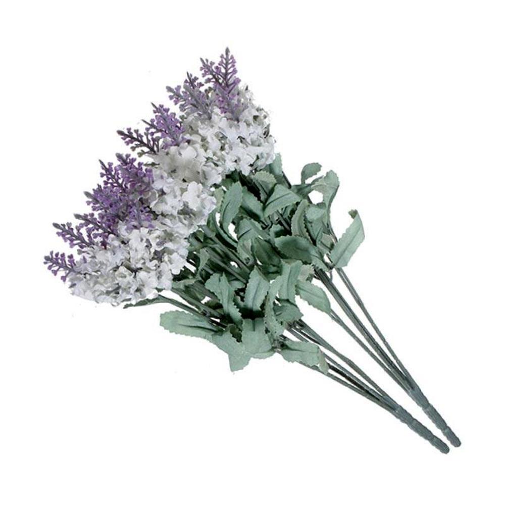 Buques De Lavanda 35 Cm Flores Artificiais Branco
