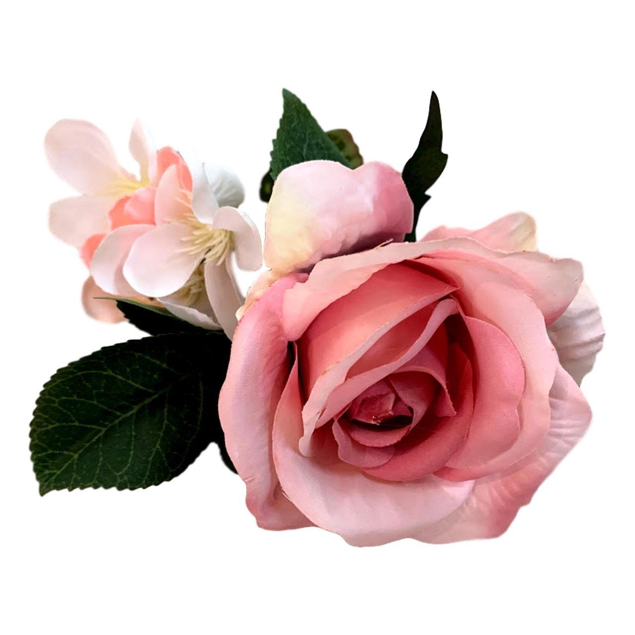 Buques De Rosas  Artificiais Primeira Linha rosa