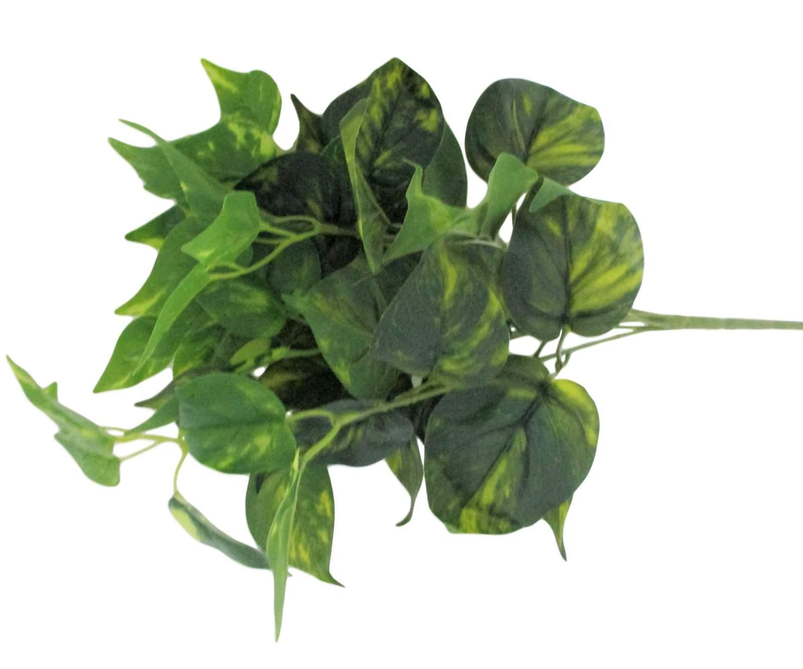 Buques folhagens artificiais em silicone planta artificial toque real cor verde