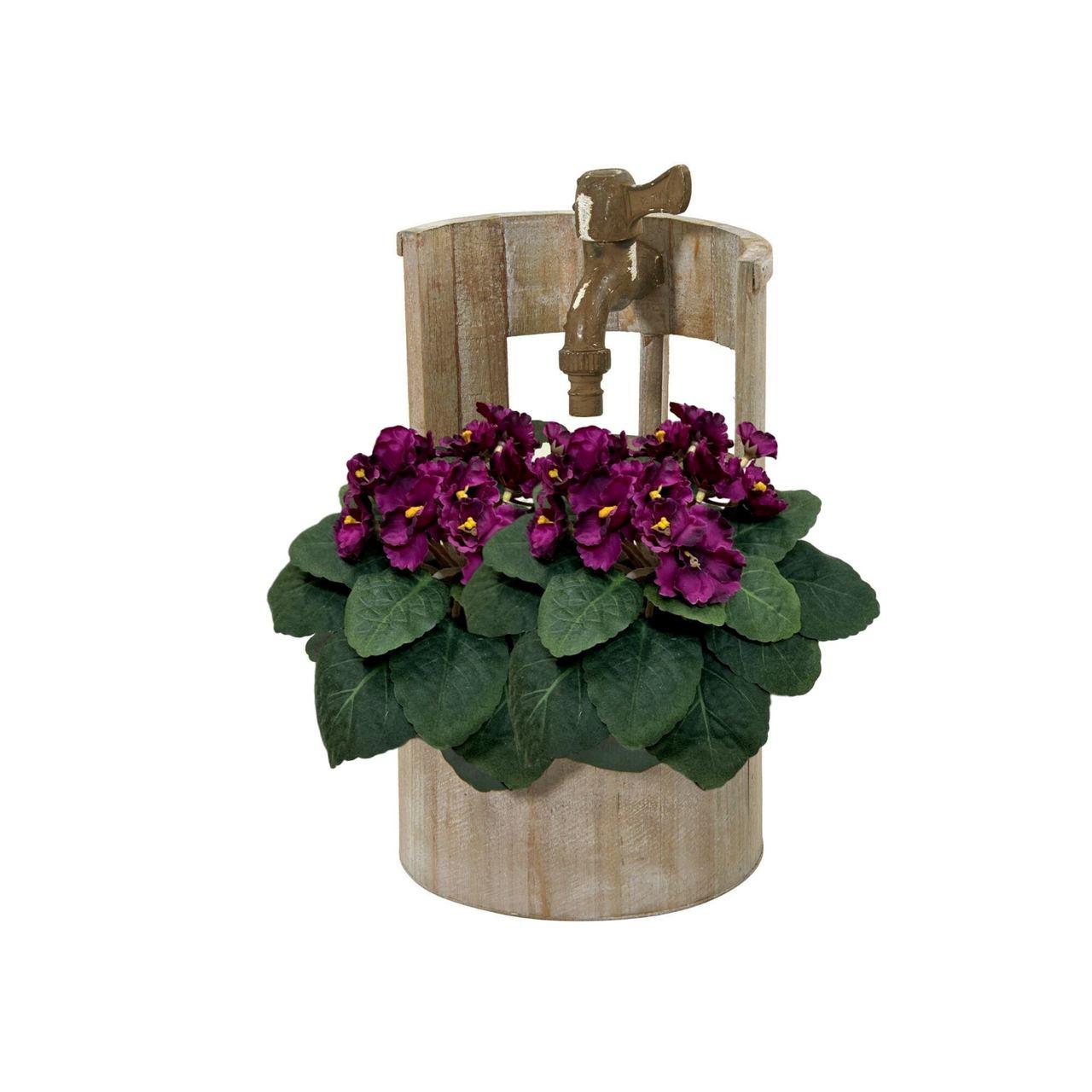 Flor artificiail violeta cor vermelho aparencia realista