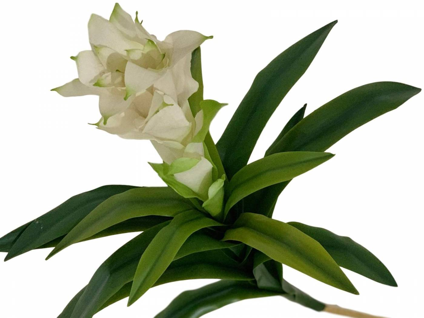 Flor artificial bromélia em silicone toque realista