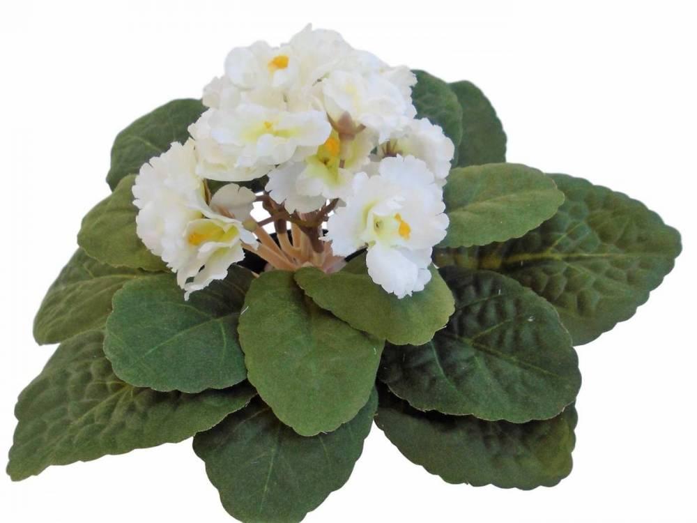 Flor Violeta Artificial Branca Para Decorações