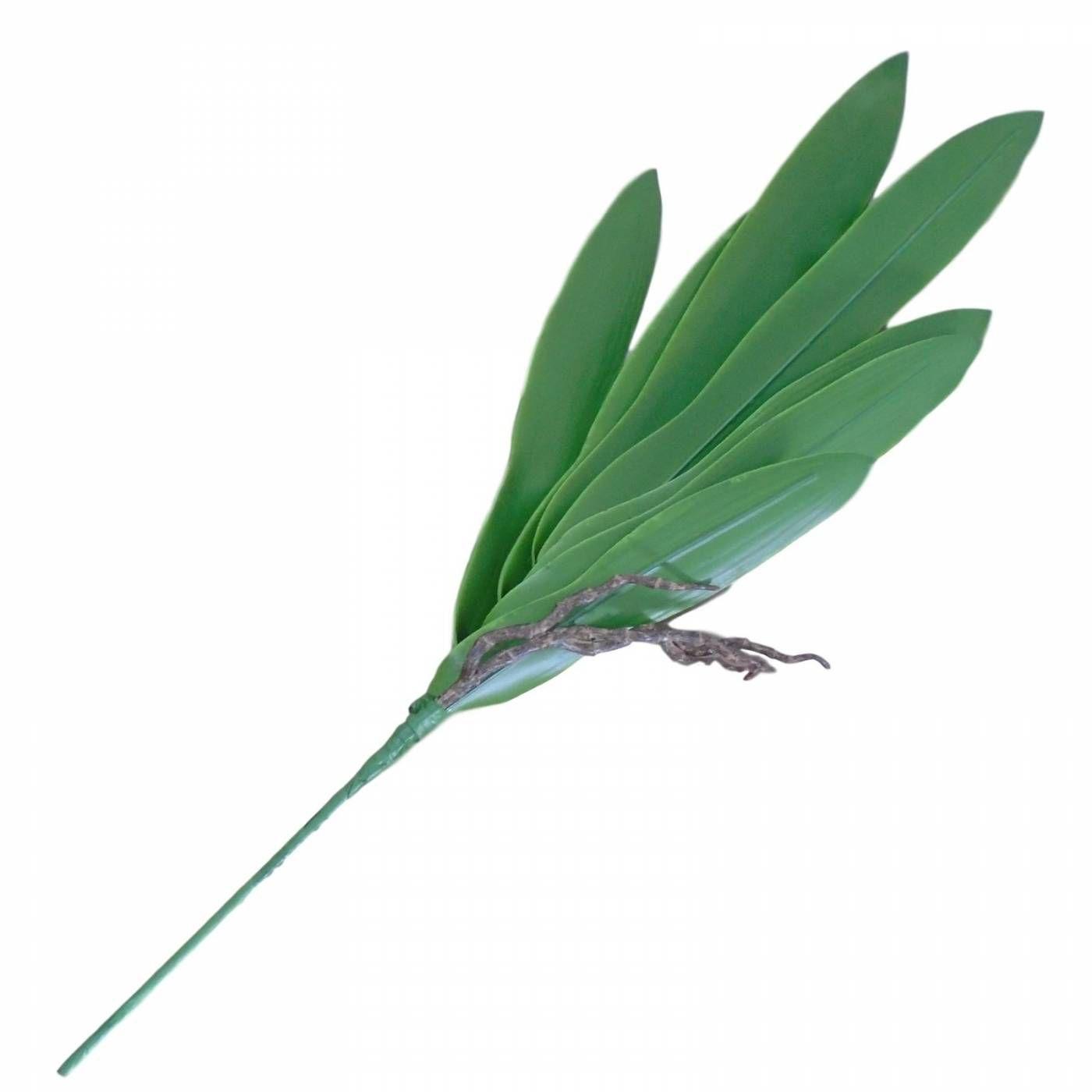 Folhagem artificial de orquídea com raiz  grande