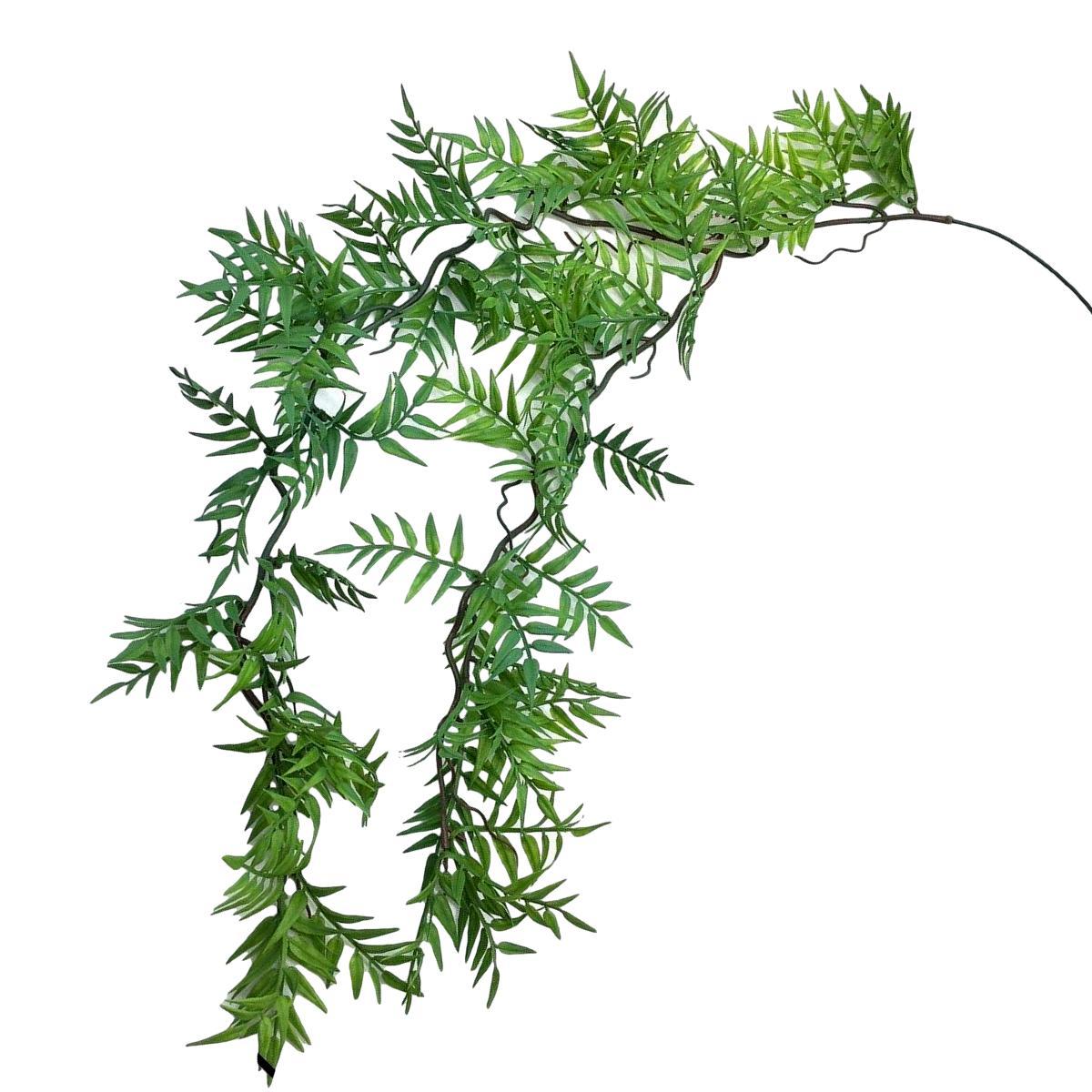 Planta Artificial Pendente Galho de Samambaia 80 cm Linha Premium