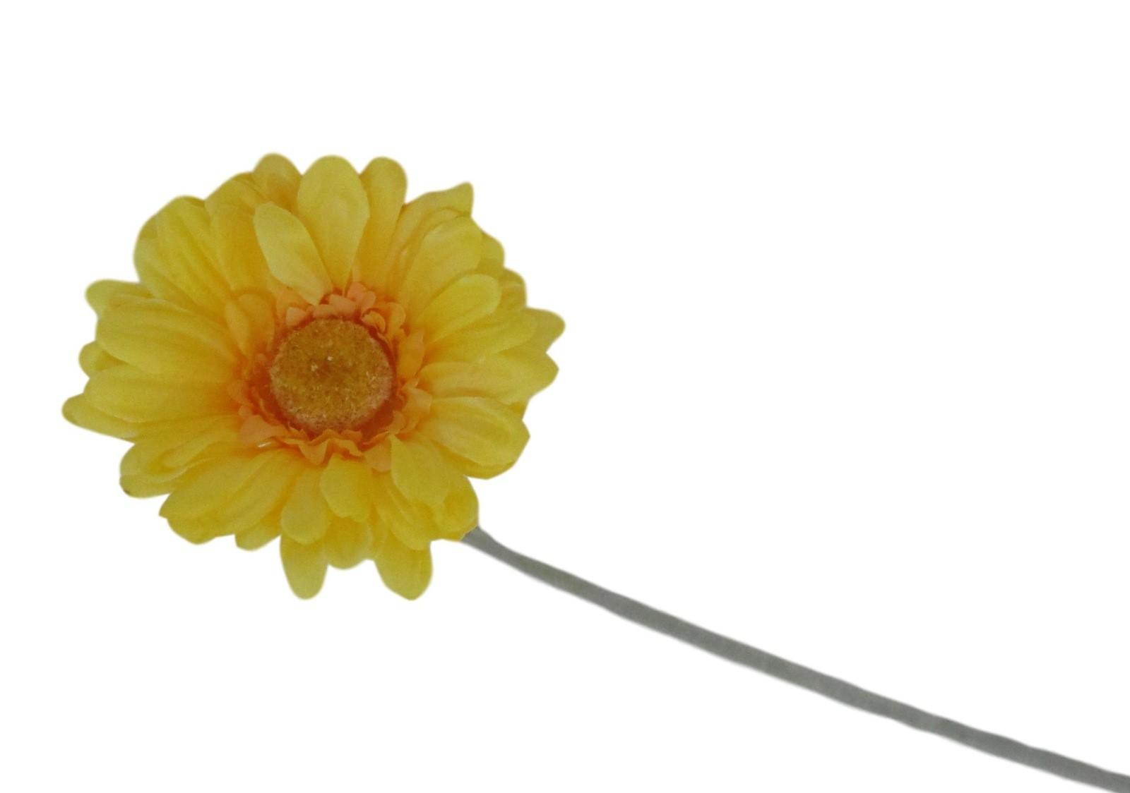 Gerbera artificial flor do campo cor amarela