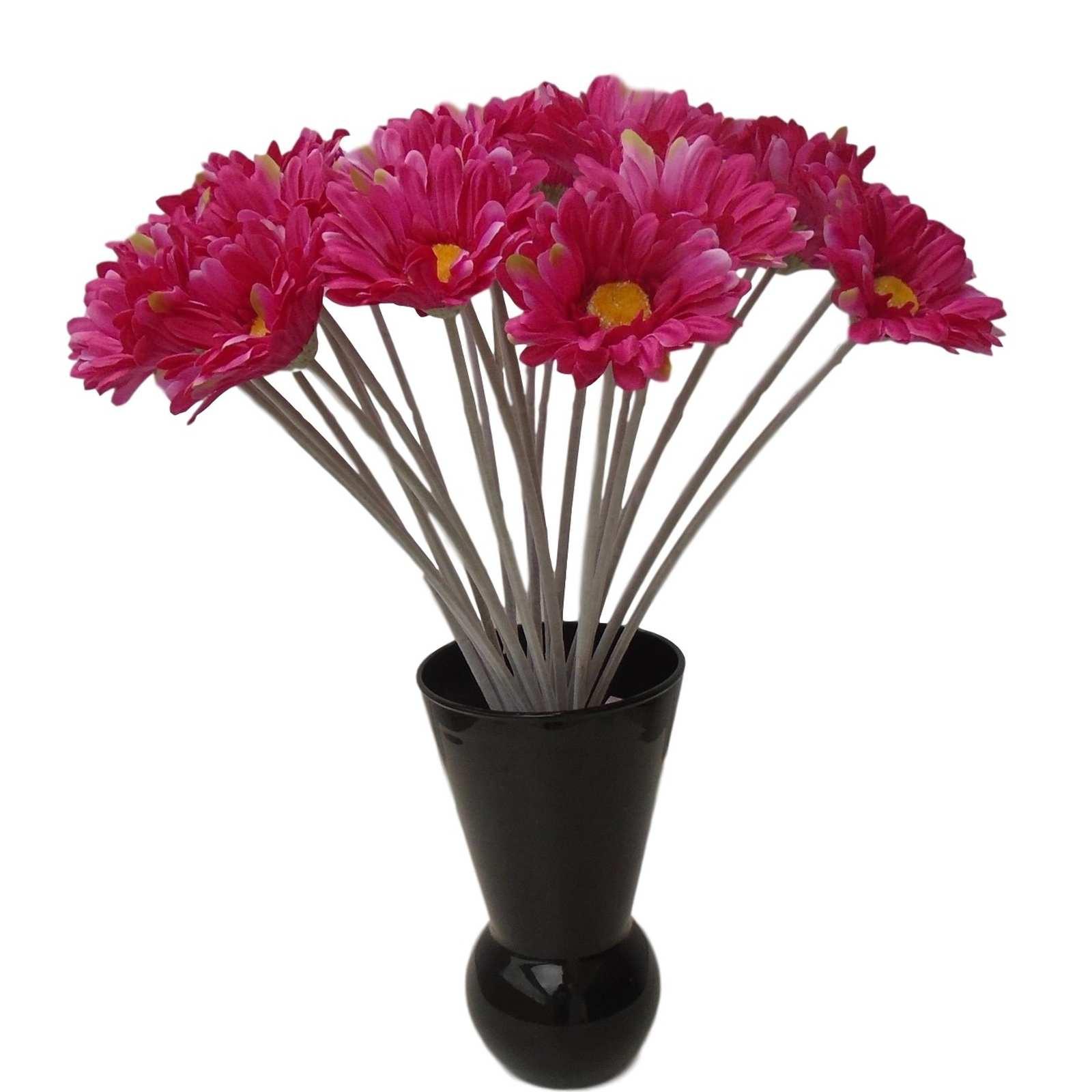 Gerbera artificial flor do campo cor pink