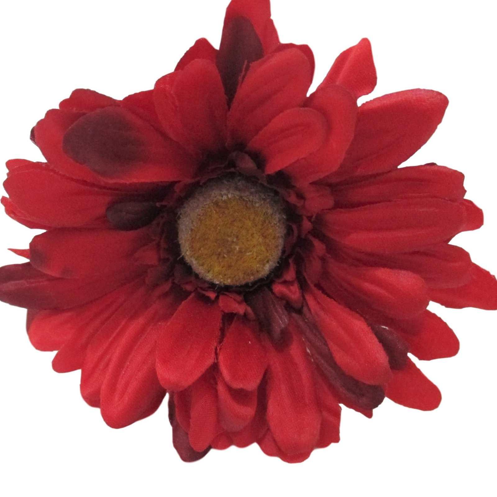 Gerbera artificial flor do campo vermelha