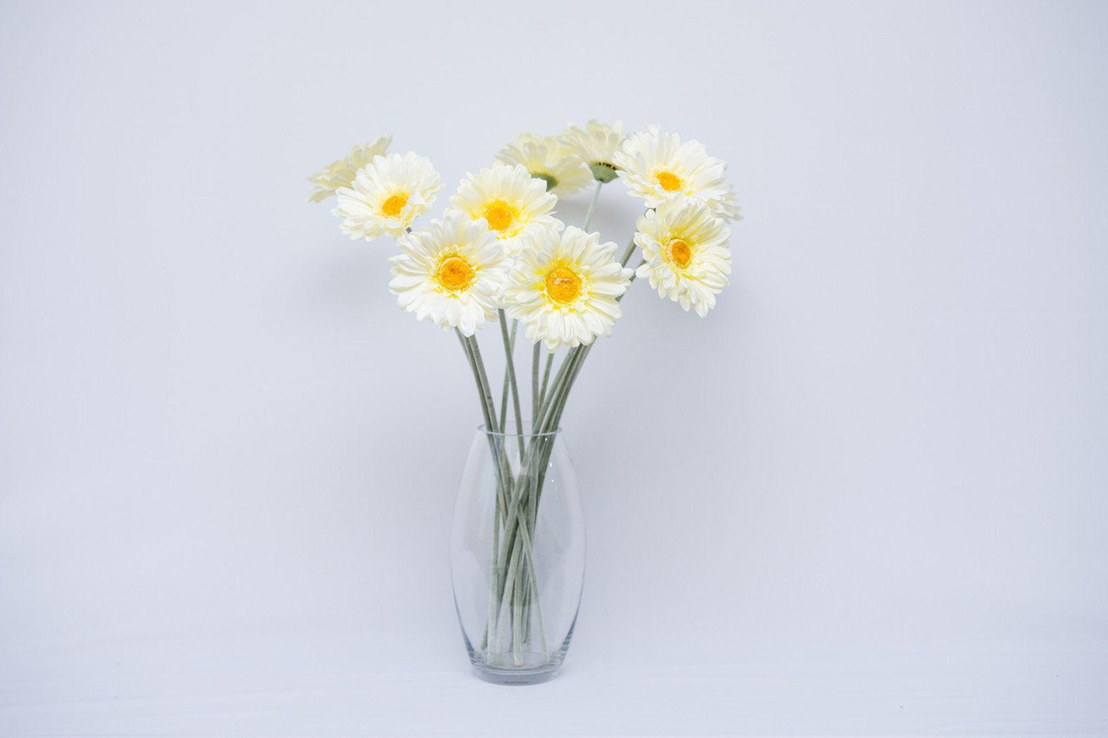 Flores Artificiais Gerberas branca