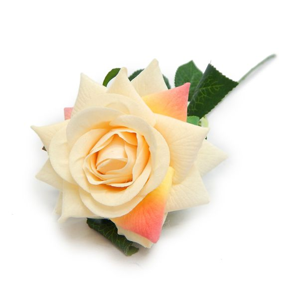 10 Hastes de Rosa Artificial aveludada 57 cm