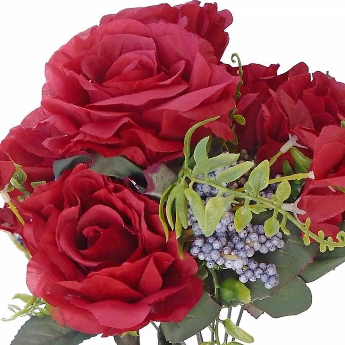 Kit 10 Buques de rosas e folhagens artificiais enfeites para Festas