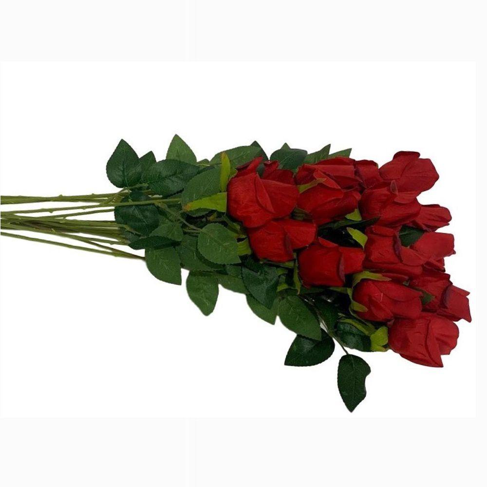 Kit Botões de Rosas Artificiais 53 cm