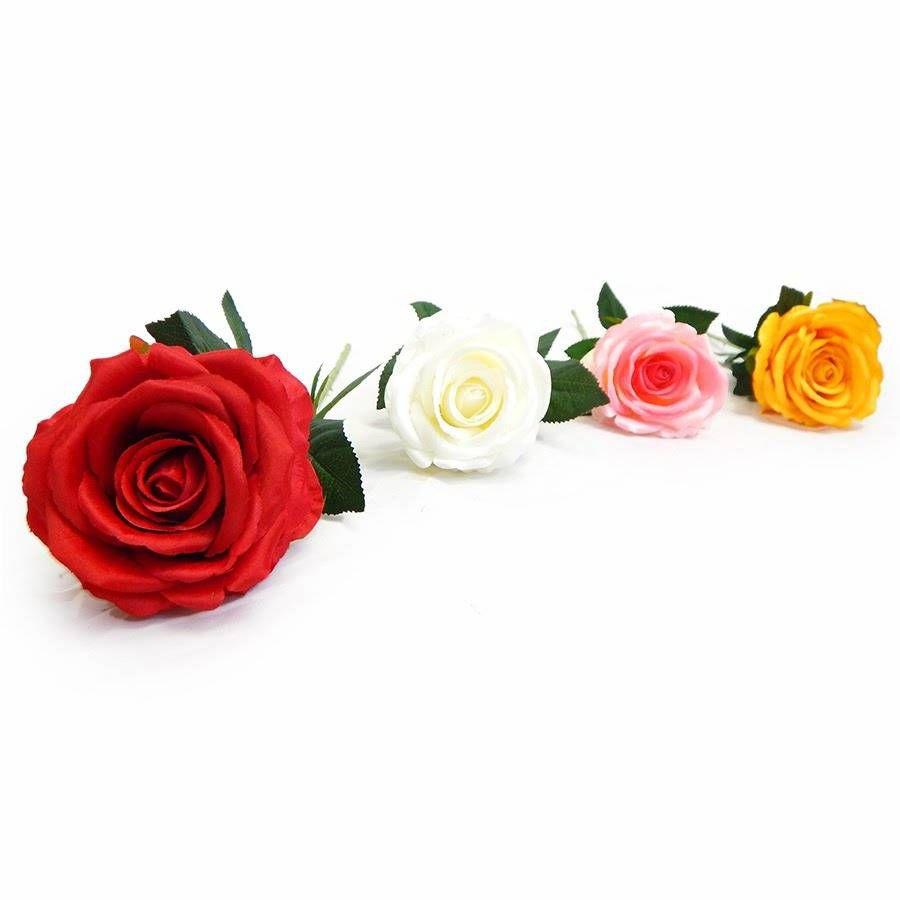 Kit Com 12 Rosas Artificiais Para Decoração