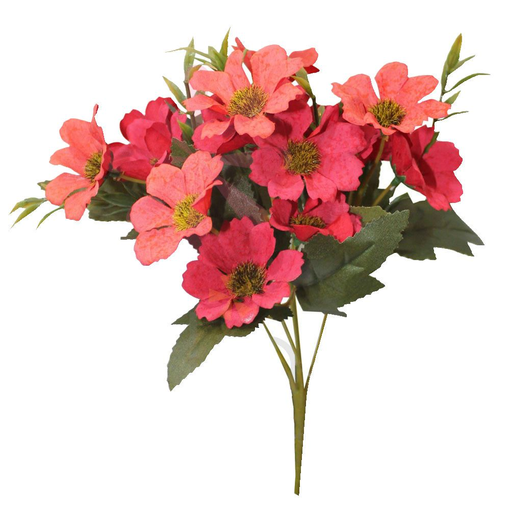 Kit com 6 buques de flores artificiais margaridas ótimo preço