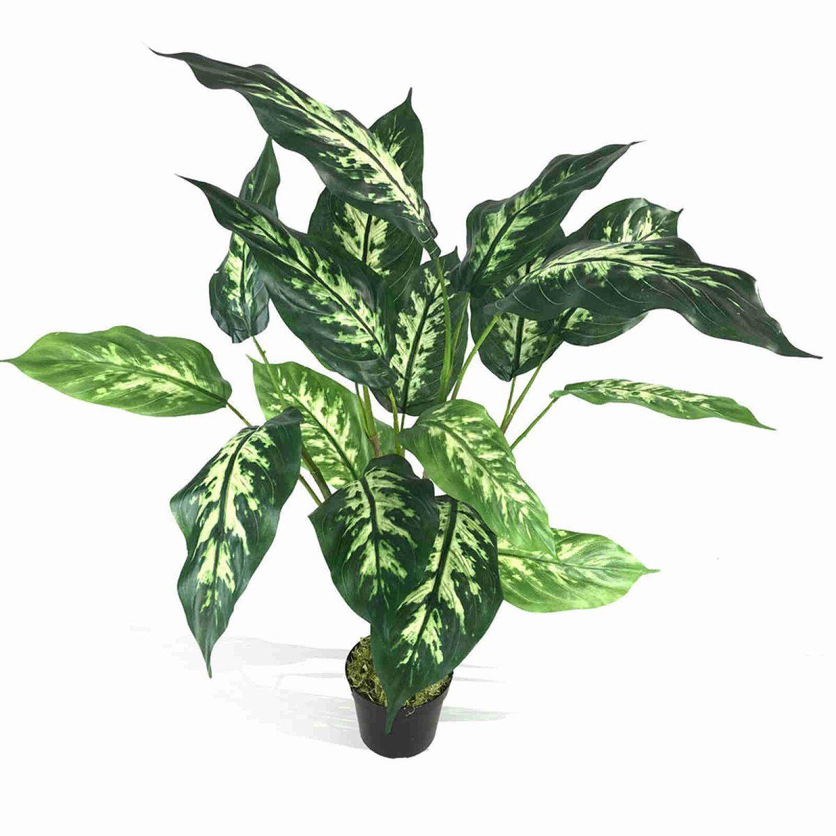 Kit de 6 plantas artificiais para decoração folhagem artificial 85 cm
