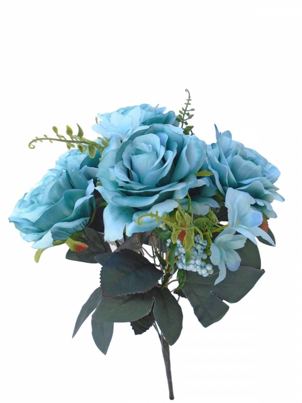 Kit Flores artificiais para arranjo e decoração 3 buques de rosas