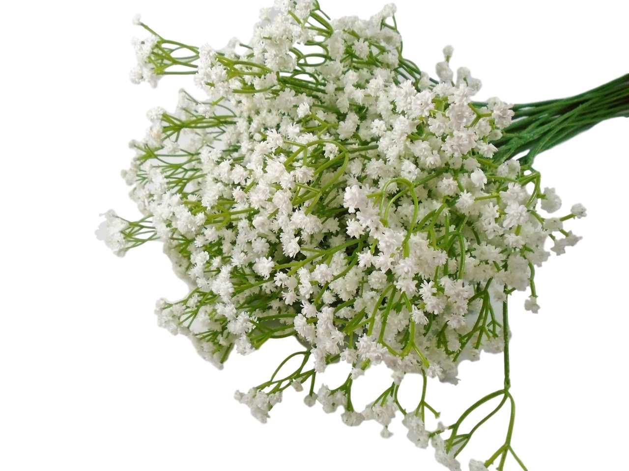 Kit flores mosquitinhos artificiais para enfeites