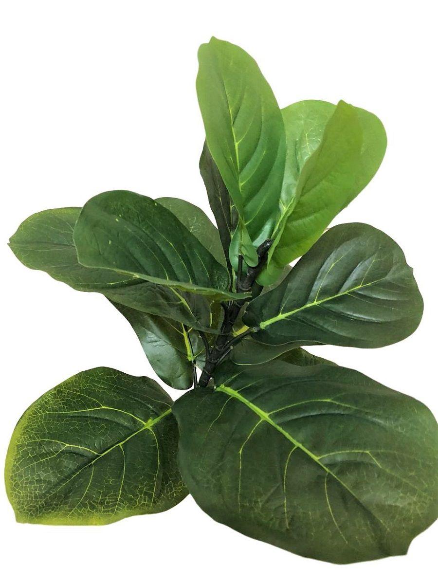 Kit Folhagem de Ficus Lyrata Artificial  55 cm