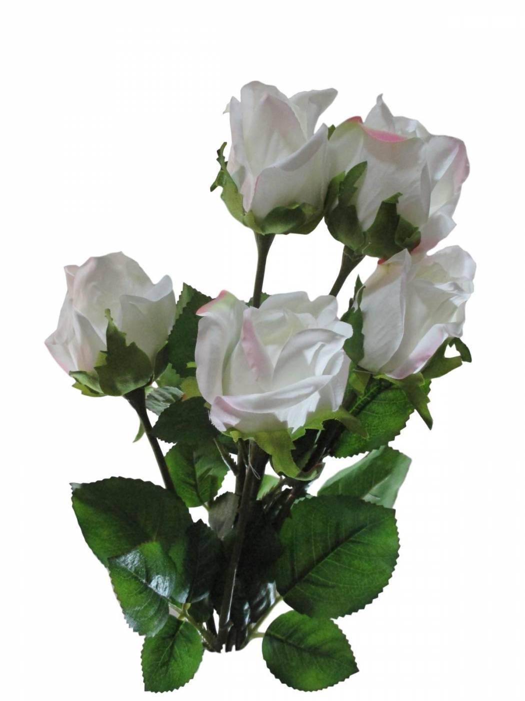 Kit Rosa Artificial Branca para lembrancinhas e enfeite
