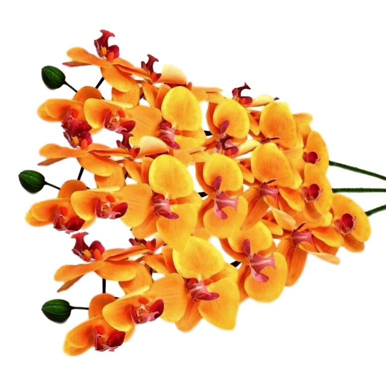 Orquidea Artificial Em Silicone Flor realista Atacado