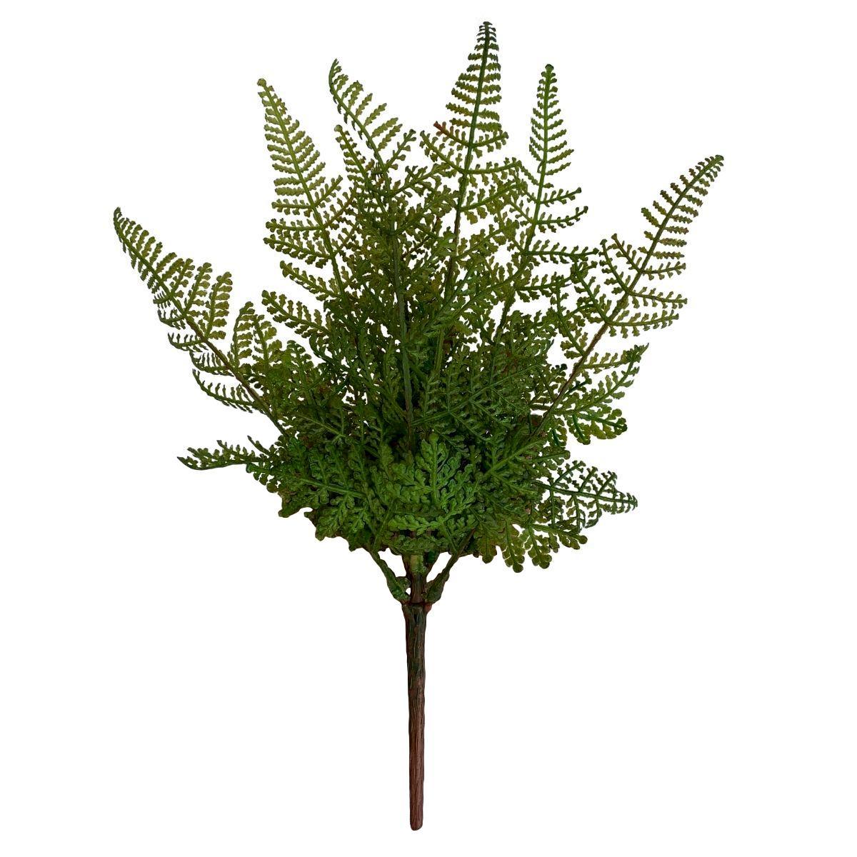 Planta Artificial Buquê de Samambaia 35 cm Toque e Aparência Real