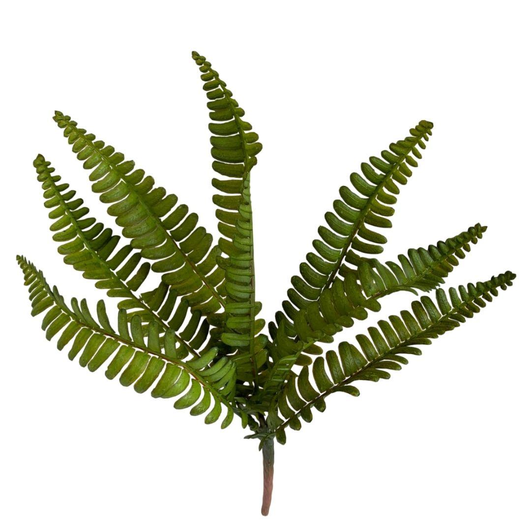 Planta Artificial Buquê de Samambaia Americana 35 cm Toque e Aparência Real