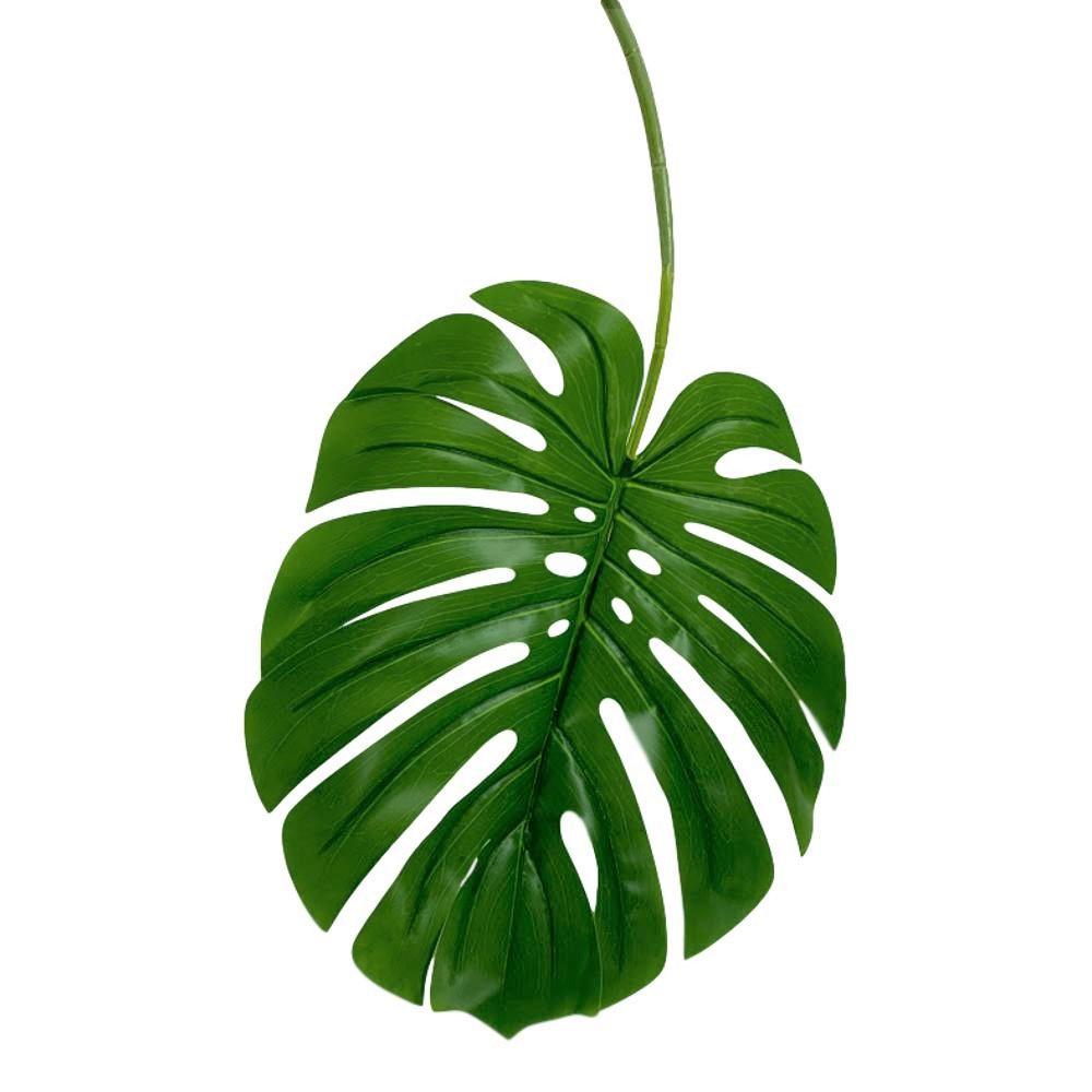 Planta artificial folha grande de Costela de Adão em silicone